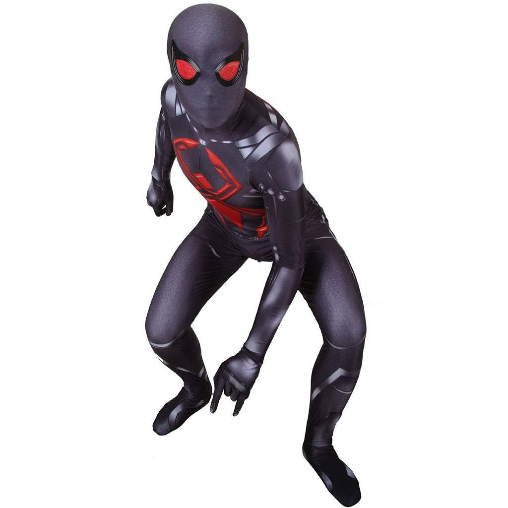 A XXXL Liabb Enfants Adultes Unisexe Lycra Spandex HalFaibleeen araignée Verse Miles Morales Costumes Cosplay 3D Style,A,S
