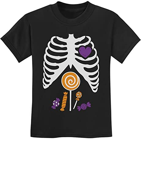 781f0ffb6a Amazon.com: Children Candy Rib-cage X-Ray Skeleton Halloween Kids T ...