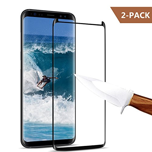 [2-Pack] Galaxy S8 Screen Protector, JEHOO Tempered Glass Screen Protector [9H Hardness][Anti-Scratch][Anti-Bubble][3D Curved] [High Definition] [Ultra Clear] for Samsung Galaxy S8