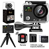 [50% off Promotion] LeadTry TP3 Sports Action Camera 12MP Wifi Full 4K HD with Ultrathin Dual Screen,100Ft Waterproof Video Camcorders, 170Deg Wide Angle Lens Recording DV with 2pcs 1350mAh Batteries