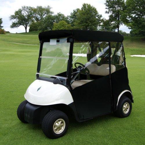 3 Sided Golf Cart Cover (BLACK, CLUB CAR PRECEDENT)