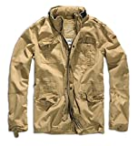 Brandit Men's Britannia Vintage Military M65 Style Short Army Lightweight Jacket X-Large Sand