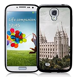 Cool Painting Salt Lake LDS Mormon Temple - Protective Designer BLACK Case - Fits Samsung Galaxy S4 i9500
