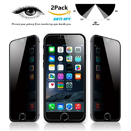 [2 Pack] iMoreGro Privacy Anti-Spy Tempered Glass Screen Protector Shield for iPhone 6 Plus / 6S Plus 5.5 inch