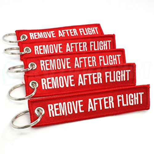 [해외]Rotary13B1 비행 후 열쇠 고리 제거 - 적색 - 5 개/Rotary13B1 Remove After Flight Keychain - Red - 5pcs
