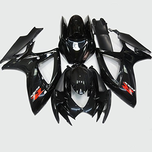 ABS Injection Molding - Gloss Black Painted With Graphic Fairing Kit for SUZUKI GSXR 600 / 750 K6 2006 2007