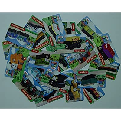 20 Character Collector Cards - Thomas Wooden Railway Train Tank Engine Loose: Toys & Games
