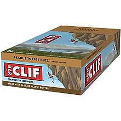 CLIF BAR - Energy Bar - Peanut Toffee Buzz - With Caffeine (2.4 Ounce Protein Bar, 12 Count)