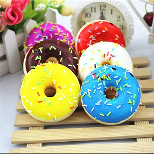2.57CM Random Squishy Simulation French Donuts Slow Rising Squishy Fun Toys Decoration by TTC STORE (Store Decorations)