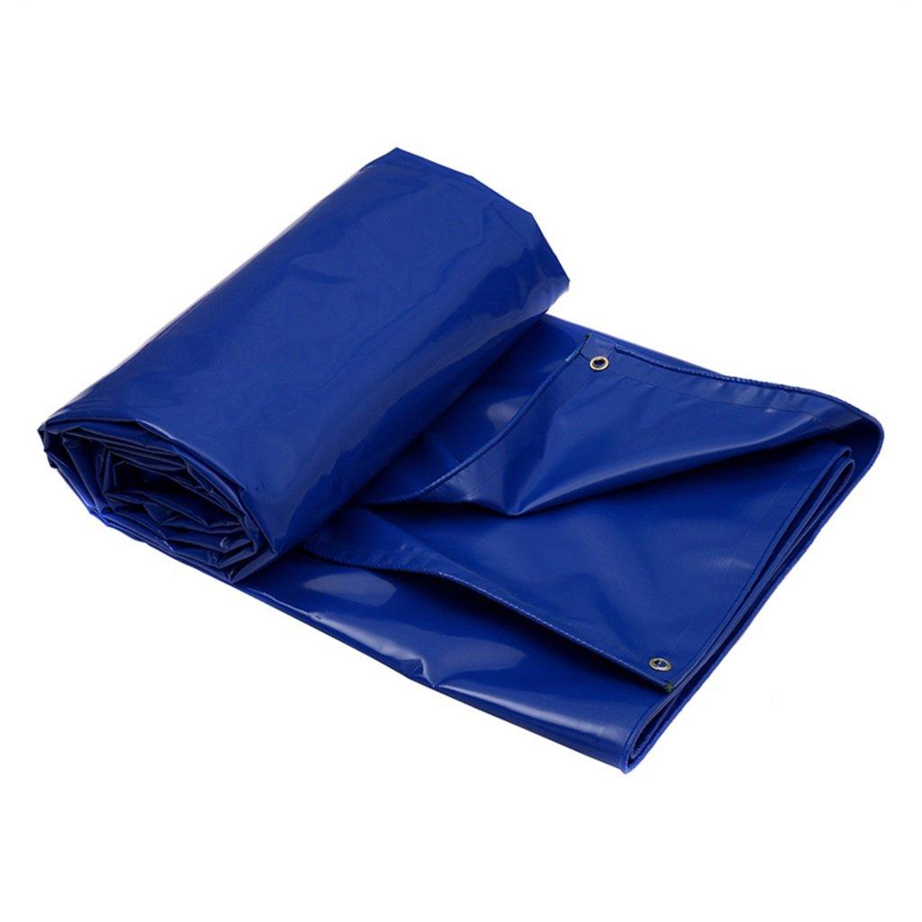Zelt Zubehör Plane Blaue Plane-Waterproof Heavy Duty Tarp Blatt   650g   m² Plane für Camping, Angeln, Gartenarbeit & Haustiere-100% wasserdicht und UV-geschützt Idee für Camping Wandern