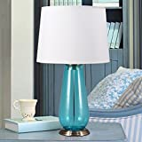 HH Modern Minimalist Style Stylish Living Room Study Bedroom Bedside Glass Decorative Table Lamp