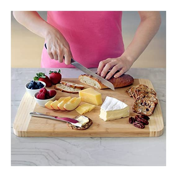 Extra Large Bamboo Cutting Board for Kitchen with Juice Groove - 17.5 x 13.5 x 0.75 inch 5 <p>BEST CUTTING BOARDS FOR KITCHEN & FOR YOUR KNIVES! ❤️Jumbo oversize design bread cutting bosrd cutlery cuttig cutting bords cuttimg curting cuttinf cutting bored mothers day kitchen cuting cutting boad cuttting cutting broad cuttong personalized baboo cutting bpard non slip woodcutting bambo cutting citting cuttibg cutting boarf mothers day cutting briskit cutting cutting valentines day cuttingg cuttng wood cuting wood cutring wood cuttig cutting boads cuttong cuttung wooden cuttin wooden cutting boatd bamboo cuting bamboo cuttimg bamboo cutting bosrd briskit cutting catting chopping light weight chopping one hand cutitng cuttibg cuttign anti slip cutting latge cutting woode cutting xl xxlarge light weight dont slip cutting obard cuttinng cuttung set woden cutting wood cutting biard wooden cuting woodwn cutting cutting baord cutting borad most popular items on amazon todays deals lightning deals cutring toaster ovens best rated cool stuff for women tabla para picar cocina accesorios nsf cutting boatd cutting boar cutting boars heavy duty choice cuttingboard oversized gadget small cuttingboards gadgets xl smart grooved jumbo rv handle inch well usa men green 2018 in inches chicken feet raw oven stuff most ovens utensil legs basics oversize toaster medium free Brisket valentines cuttong cooking platter holder end xxl beech bord dad silent stovetop camper parents voard wood wooden wedding registry by brides name charcuterie butcher block wood cutting kitchen essentials cutting oil noodle huge giant chef carving with juice grooves turkey carving platter turkey carving spikes turkey shaped cutting charturie charqueterie tabla para quesos charcuterie plates outdoor fresh nsf entertaining serving dishes soft 18x13 18 x 13 grilling easy to clean cutting board microbial certified single hand made handmade best heavy duty king camping dad man men vegan bacteria anti mold comercial commercial network handcrafted hand crafted ridged sale seal one piece anti slip LOVE OUR CUTTING BOARDS FOR KITCHEN or YOUR MONEY BACK, Guaranteed! We stand behind our bamboo cutting board 100% If anything is wrong with your heavy duty cutting board Contact Us directly and give us a chance to make it right! 100% SAFE FOR FAMILY! Eco friendly bamboo cutting board with natural antimicrobial properties and already coated with food grade mineral oil. Renewable, formaldehyde-free, BPA free and no chemicals used during production makes this a perfect choice for your family and the environment. Do Not Place In Dishwasher! KNIFE FRIENDLY! Cutting board won't dull your expensive knife set when you carve turkey, chop vegetables, prep steak meat, roast beef, cooking bbq brisket, slice cheese, cut pizza, fish or other cool food meal stuff. Top choice for cutlery utensil as compared to other noodle, teak, hard plastic or thick hardwood end grain cutting block. DEEP JUICE GROOVE! This rectangle turkey carving platter holds up to 2 oz. of liquid keeps juices from spilling all over your kitchenware counter. The oversized bambu drip well catcher is great to cut turkey, chopping juicy veggies or fruit. HAPPY COOKS ranging from home cooks to professional chefs at restaurants, commercial kitchens, caterers and bakeries. Comes in a gift worthy package for mom, perfect for any occasion like Valentines's Day, Thanksgiving, Bridal Shower, Housewarming, Birthday, House Warming Presents search Wedding Registry Ideas by Brides Name.</p>