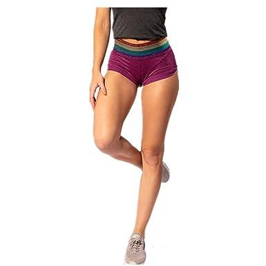 Chickwin Pantalones Cortos Yoga Mujer Algodón Cintura Alta ...