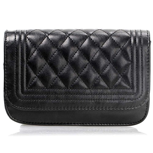 Quilted Solid PU Midnight Pattern Womens Clutch BMC Handbag Diamond Mini Color Leather qSYOnA