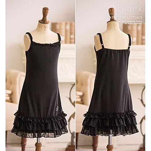 a45f010160918 キャサリンコテージ(Catherine Cottage) 裾フリルキャミソールワンピース ブラック系 140cm