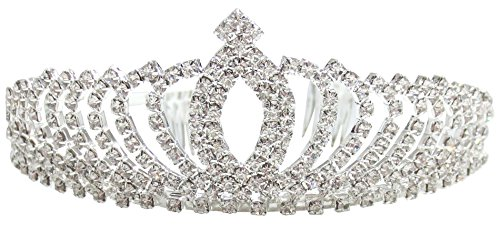Rhinestone Tiara Crown Wedding Bridal Pageant Princess Headband, Style 5 -