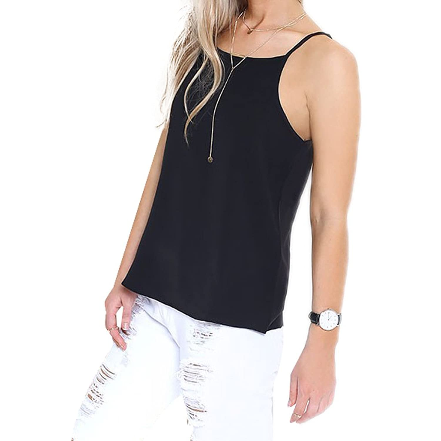 Eliacher Women's Casual Sleeveless Camis Summer Tops