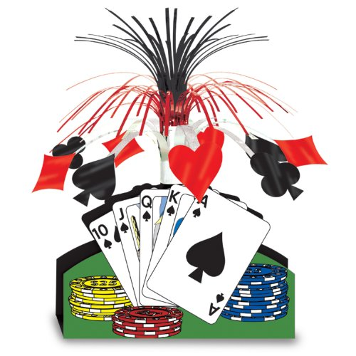 Casino Themed Costume - Beistle 50035 Playing Card Centerpiece, 13-Inch