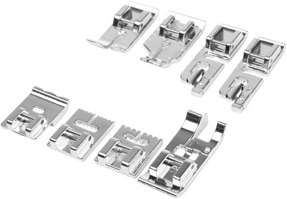 Haihuic - Juego de 16 prensatelas para máquina de coser doméstica Bruder Singer, W6, Elina, Janome, Pfaff, AEG, # 1