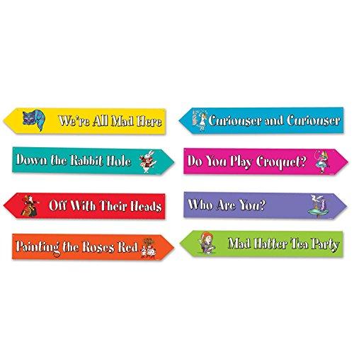 Alice In Wonderland Street Sign Cutouts (Prtd 2 Sides W/Different -