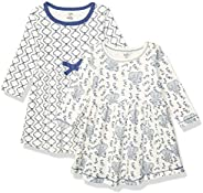 Touched by Nature Baby-Girls Organic Cotton Short-Sleeve and Long-Sleeve Dresses