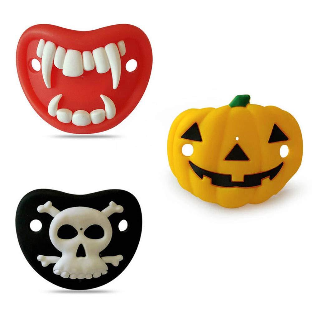 Amazon.com: Vinctik 6 & Fox - Chupete de Halloween, calabaza ...