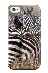 JudyRM Iphone 4/4s Well-designed Hard Case Cover Zebras Protector hjbrhga1544