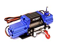 Integy Hobby RC Model C25579BLUE Billet Machined T7 Realistic High Torque Mega Winch for Scale Rock Crawler 1/10