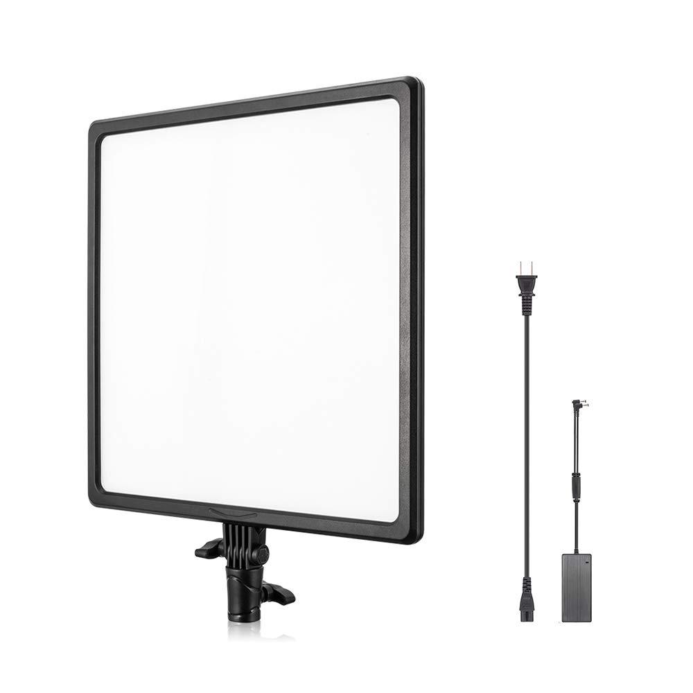 UTEBIT 撮影ライト薄型 256 led 3200k-6500k 色温度 / 0-4600LM 輝度 調節可能 ビデオライト 180°回転 電源アダプター付き ディフューザー 定常光 撮影 照明用 led ライト 【日本語説明書】 [並行輸入品] ビデオライ 256個LED アプリコントロール  B07GQYYML9