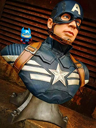 Gmasking Captain America Bust Bank Statue NEW Color 1:1 Replica