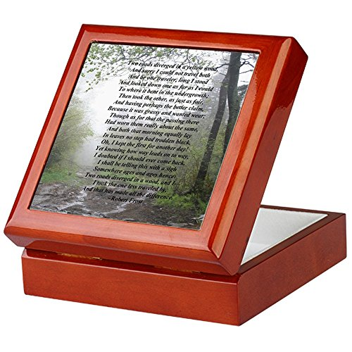 CafePress - Road Less Taken - Keepsake Box, Finished Hardwood Jewelry Box, Velvet Lined Memento Box