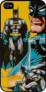 Batman Comic Vintage Wallpaper- Hard Black Plastic Snap - On Case -Apple Iphone 6 Plus ONLY- Great Quality!
