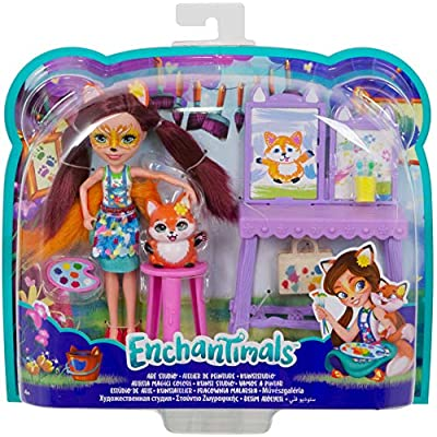Enchantimals Art Studio Playset with Felicity Fox Doll: Toys & Games
