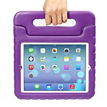 iPad MiNi 4 Case,iPad MiNi 4 Kiddie Case-Grand Sky-Shockproof Case Light Weight Kids Case Super Protection Cover Handle Stand Case for kids Children for Apple iPad mini 4(ipad mini 4, purple)