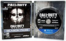 Sony Playstation 4 PS4 Call of Duty GHOSTS Steelbook Video Game & DLC Bundle COD Season Pass