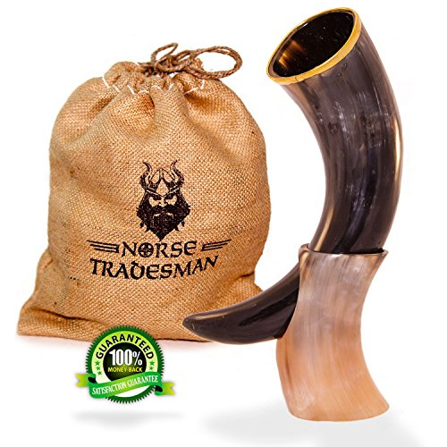 Norse Tradesman Drinking Genuine Ox Horn product image