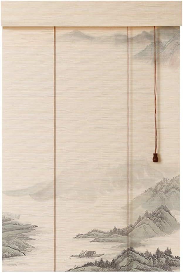 WY Cortina de bambú impresión de la decoración Retro Sombra ciega Romana Cortada Persiana, 3 Estilos múltiples tamaños Personalizables (Color : C, Size : 85X150CM): Amazon.es: Hogar