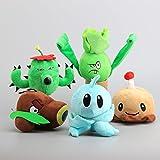 Coconut Cannon Iceberg Lettuce Bonk Choy Potato Mine Cactus 7 Inch Toddler Stuffed Plush Kids Toys PVZ 5 Pcs/set