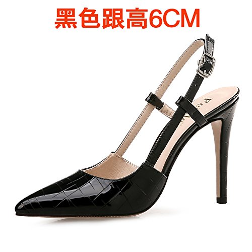 Baotou Empty The With Size VIVIOO Sandals Black Women'S Sandals Small High High Shoessummer Sandals Yards Heeled 6cm Tip Female Heeled High The Heeled Of 1RqUFxp16w