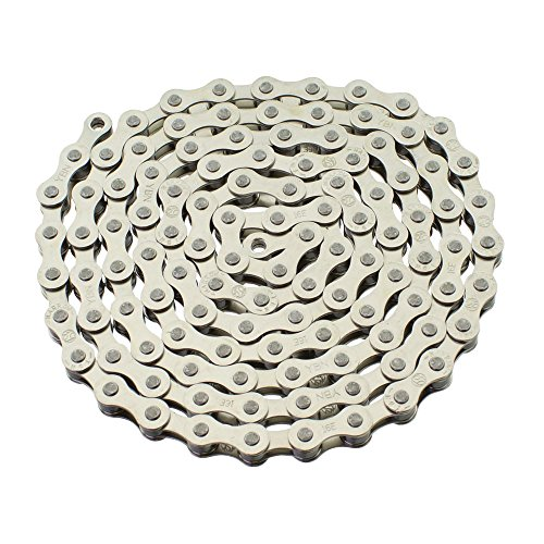 (YBN S410 Bicycle Chain (1-Speed, 1/2 x 1/8-Inch, 112L) , Various Colors (Chrome)