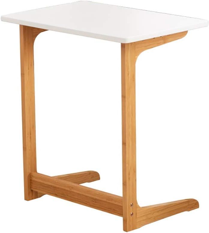 Kwaliteit Saladplates-LXM tafel, bijzettafel, sofa, zijde, salontafel, L Shaped Snack-tabellen-laptoptafel voor woonkamer, slaapkamer, 60 x 40 x 65 cm A 5Y5D4BE