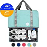 20' Gym Bag Sports Duffle 55L with Large Wet Pocket and XL Shoes Compartment for Swim Sports Travel Luggage By WANDF (Mint Green(20'- 55L))