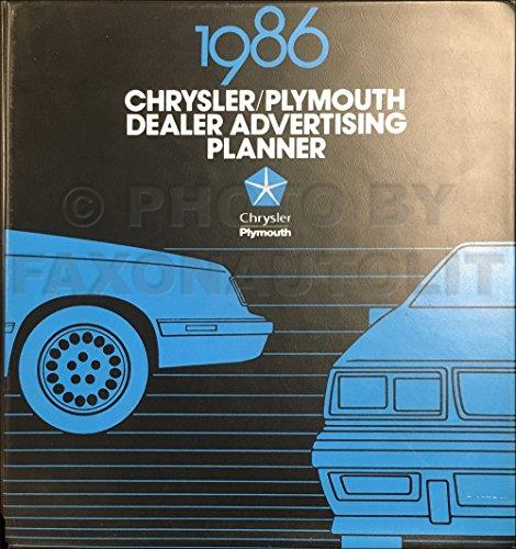 1986 Chrysler Plymouth Dealer Advertising Planner Original