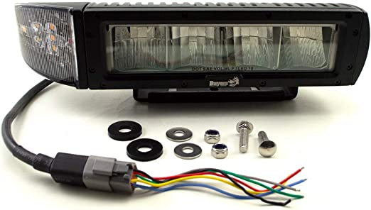 Cut and Splice Buyers Products 1312100 Universal Heated LED Snow Plow Lights