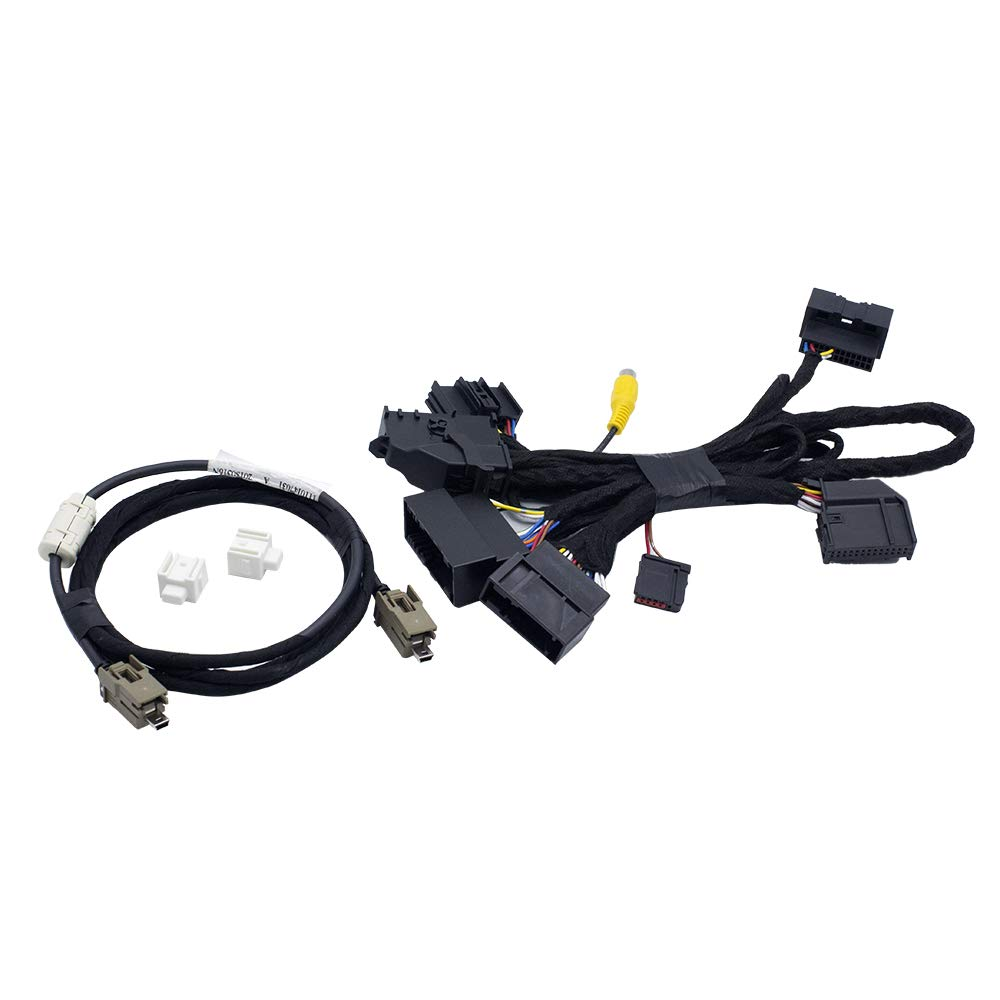 """Bestycar 4"""" TO 8"""" PNP Conversion Harness for Ford SYNC 1 to SYNC 2 & SYNC 3 Upgrade Fits for Ford Edge Fusion F-150 Mustang Super Duty Power Harness Adapter & USB Interface Module Adapter & APIM Cable"""