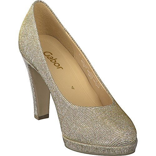 Pumps Fashion Gabor Platin Damen Schwarz OBFnxSn