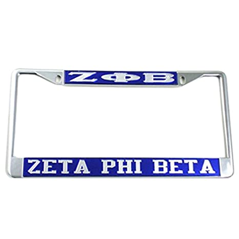 Amazon.com: Zeta Phi Beta License Plate Frame: Automotive