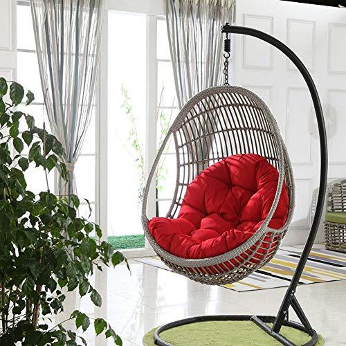 51LctEQDIzL. SS500 De gran tamaño: El colchón de 90x120cm medidas de tamaño,Consejo: solo tiene cojines, no hay columpios Advantage no tóxico: Lleno de algodón de la perla de alta calidad, el cojín no es tóxico e inocuo, no hay impurezas. Diseño engrosamiento: Este colchón es lo suficientemente gruesa que nunca se sentirá la estructura de una silla swing o una silla de mimbre.