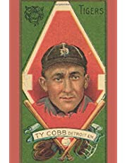 """TY COBB Detroit AM Tigers: Vintage Baseball Player Card Art Journals: 6""""x9"""" (15.24cm x 22.86cm) 110 Pages MLB History Books To Write In For Baseball Card Collectors, Players, & Enthusiasts"""
