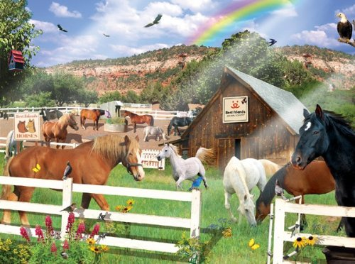 Best Friends Horses 1000 pc Jigsaw Puzzle